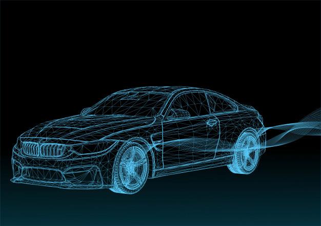 Modelo 3D veículo automotivo