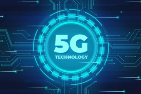 Conceito tecnologia internet 5G no supply chain industrial